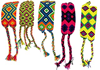 Tuikii Friendship Bracelets for Men and Women with Gift Card - Colombian Wayuu Handmade Braided Thread - Woven, Colored, Intricate Cord Wristband - Thoughtful - Aura Meaningful Gifts for Teenage Best Friend