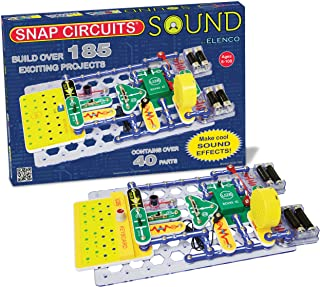 Snap Circuits Sound Electronics Exploration Kit   185 Fun STEM Projects   4-Color Project Manual   40+ Snap Modules   Unlimited Fun