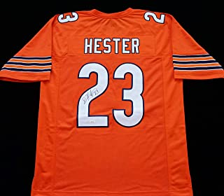 Devin Hester Signed Autographed Orange Football Jersey with JSA Certificate of Authenticity
