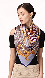 Large Silk Scarf Square, Jeelow 100% Mulberry Silk Shawls And Wraps For Evening Dresses