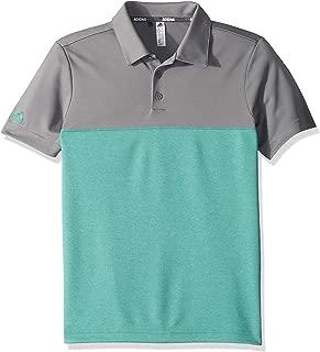 adidas Golf Heathered Color Blocked Polo
