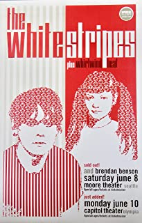 White Stripes ~ Moore Theater, Seattle/Capitol Theater, Olympia ~ Advertising Poster