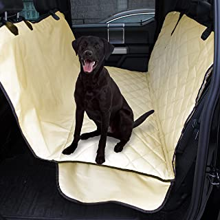 Plush Paws Products Waterproof Pet Seat Cover Non-Slip Hammock with Bonus Two Seat Belts and Two Dog Harnesses