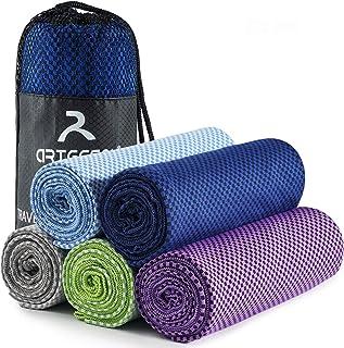 EasyULT Serviette Microfibre Voyages Serviette de Sport Microfiber Towel Compacte Ultra-L/ég/ère et Rapidement S/èche pour Sport Yoga et Natation Gris Serviette de Refroidissement Camping