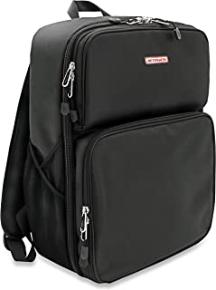 """Orbit Concepts Jetpack-Cut-BLK DJ Backpack for Portable Turntables, 7"""" Records and Accessories"""