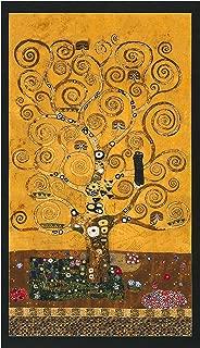 Robert Kaufman Kaufman Gustav Klimt Tree Panel Gold Metallic Fabric