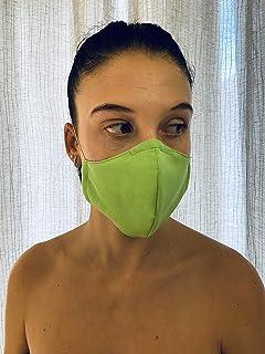 Mascherina Unisex Lavabile 100% cotone verde acido