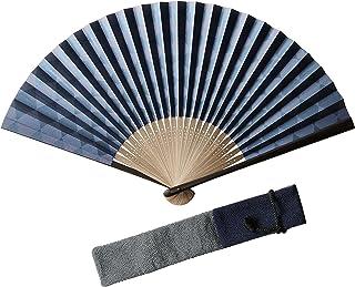 (ハクチクドウ) Hakuchikudo(ハクチクドウ) 市松モダン扇子セット (全2種類) 12-kyo-ichimatsu