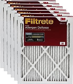 Filtrete MPR 1000 16 x 25 x 1 Micro Allergen Defense HVAC Air Filter, 6-Pack