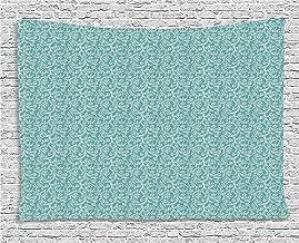 ALKKVI Tapices de Pared Retro Tapestry Ethnic Pattern with Floral Swirls Old Fashioned Elegant Gardening Plants Lace decoración para el hogar,para dormitorios,Salones o como Manta para Playa 80WX60L