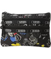LeSportsac - Peanuts 3 Zip Cosmetic