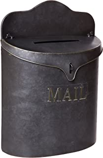 Red Co. Vintage Metal Canister Mail Box, Wall Mounted Lockable Post Mailbox Storage, 15-inch