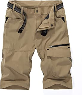 MAGCOMSEN Men's Hiking Cargo Shorts Quick Drying, Sun Protection, Tear Resistant Outdoor Shorts with 5 Pockets