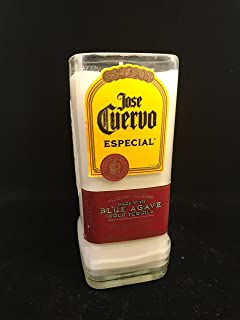 Salted Lime Margarita Scented Jose Cuervo 10 Oz Soy Candle Repurposed Bottle