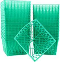 48-Pack Pint Size Plastic Berry Baskets, 4-Inch Berry Boxes with Open-Weave Pattern, Ideal for Summer Picking & Crafts! (4...