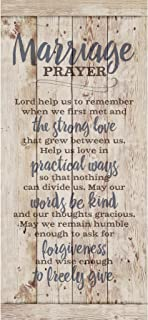Best Marriage Prayer Wood Plaque Inspiring Quote 5.5x12 - Classy Vertical Frame Wall Hanging Decoration | Lord, Help us to Remember When we First met | Christian Family Religious Home Decor Saying Reviews