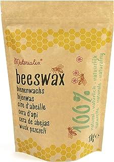 Materialix 100% natürliche gelbe Bienenwachs pastillen Verschiedene Größen - 1kg