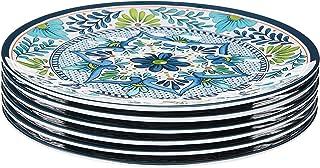 "Certified International, Multicolor Talavera 11"" Dinner Plate, Set of 6, 11 inch"