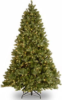 National Tree Company 'Feel Real' Pre-lit Artificial Christmas Tree   Includes Pre-strung White Lights, PowerConnect, and Stand   Downswept Douglas Fir - 7.5 ft
