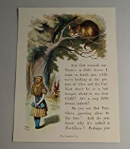 BiblioArt Series 【特価】ジョン・テニエル「不思議の国のアリス チシャネコ」A4版額絵