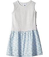 Sweet Grey and Soft Blue Tank Dress (Toddler/Little Kids/Big Kids)