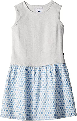 Sweet Grey and Soft Blue Tank Dress (Toddler/Little Kids/Big Kids)