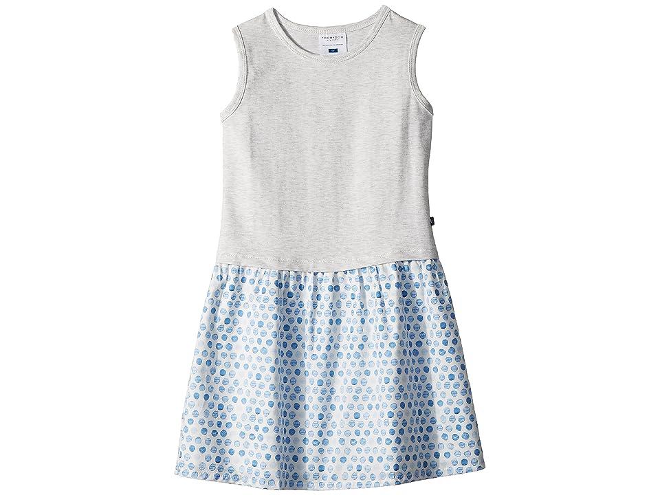 Toobydoo Sweet Grey and Soft Blue Tank Dress (Toddler/Little Kids/Big Kids) (Blue) Girl