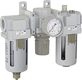PneumaticPlus SAU400-N06G Compressed Air Filter Regulator Lubricator Combo 3/4