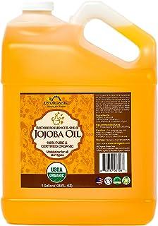 US Organic Jojoba Oil, USDA Certified Organic,100% Pure & Natural, Cold Pressed Virgin, Unrefined, Haxane Free (Gallon (12...