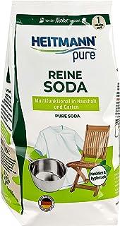 HEITMANN pure Reine Soda: Ökologischer Vielzweck-Reiniger für den Haushalt, Zugabe zu Spülmittel und Putzmittel, 1x 500g