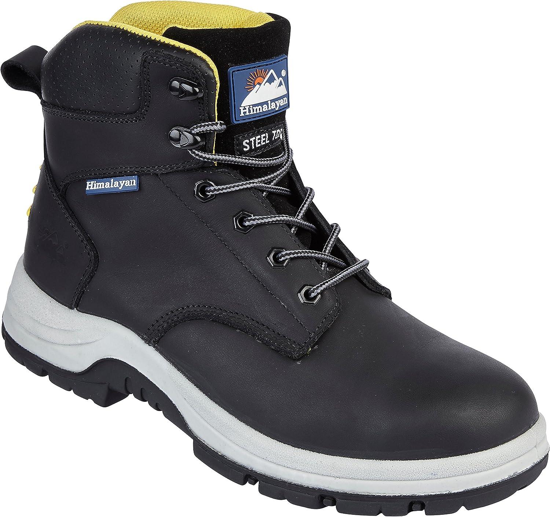 Himalaya 5240 S1P SRC Premium svart svart svart läder Steel Toe Cap Quality stövlar  online försäljning