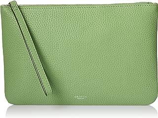 Oroton Women's Avalon Medium Zip Pouch, Fern Green, One Size