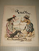 1892 Puck Magazine: U.S. & Canada Protectionism - Federation of Labor Pope