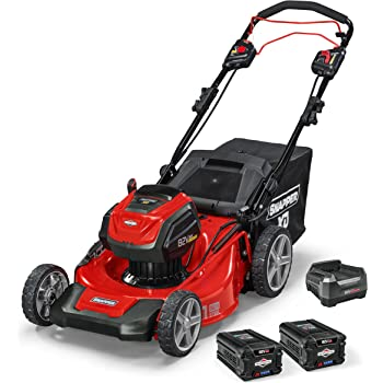 """Snapper XD 82V MAX Cordless Electric 21"""" Self-Propelled Lawn Mower, includes Kit of (2) 2.0 Batteries & Rapid Charger"""