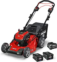 Snapper XD 82V MAX Cordless Electric 21-Inch Self-Propelled Lawn Mower Kit with (2) 2.0..