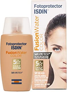 Fotoprotector ISDIN Fusion Water Color SPF 50 | Protector solar facial uso diario | Textura ultraligera| 50ml