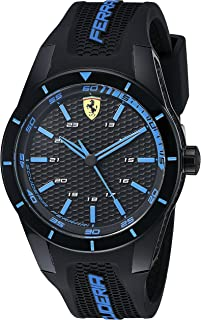 Ferrari Men's 0830247 REDREV Analog Display Japanese Quartz Black Watch