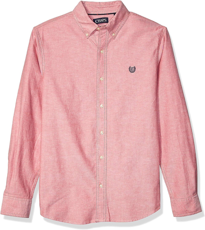 Chaps Men's Long Sleeve Stretch Oxford Button Down Shirt