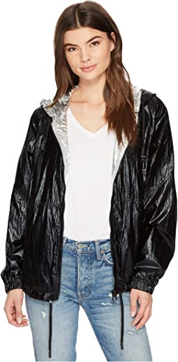 Two-Tone Hooded Jacket in Raise The Bar