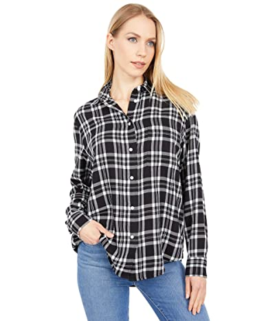 Lucky Brand Relaxed Flannel Shirt (Black Multi) Women