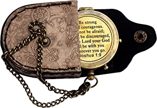 MAH Be Strong and Courageous, Do Not Be Afraid Engraved Compass, Joshua 1 9 Engraved Gifts, Confirmation Gift Ideas, Baptism Gifts, Missionary Gifts, Birthday Gifts. C-3278