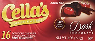 Cella's Dark Chocolate Covered Cherries, 16 Count (Single)