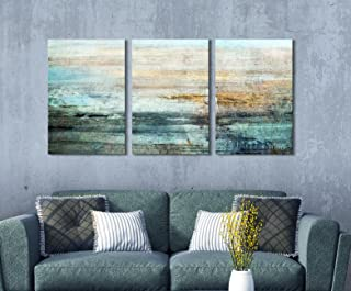 wall26 3 Panel Canvas Wall Art - Abstract Grunge Color Compositon - Giclee Print Gallery Wrap Modern Home Decor Ready to Hang - 36