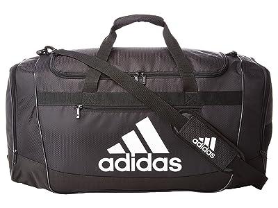 adidas Defender III Large Duffel (Black/White) Duffel Bags