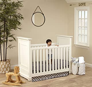 Baby Cache Cape Cod 3-in-1 Convertible Island Crib, White,Crib + Two beds, 12000-WHT