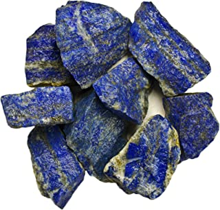 Hypnotic Gems Materials: 2 lbs Lapis Lazuli Stones from Afghanistan - Rough Bulk Raw Natural Crystals for Cabbing, Tumbling, Lapidary, Polishing, Wire Wrapping, Wicca & Reiki Crystal Healing