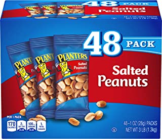 PLANTERS Salted Peanuts, 1 Oz. Bags (48 Pack) - Snack Size Peanuts with Sea Salt & Simple Ingredients - Convenient Snackin...