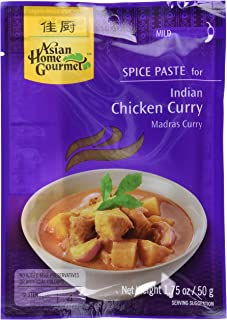Asian Home Gourmet Indian Chicken Curry Spice Paste, 1.75oz (Pack of 6)