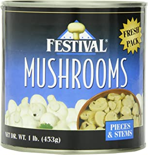 Festival Mushrooms Pieces and Stems Fresh Pack, 16-Ounce (Pack of 6)