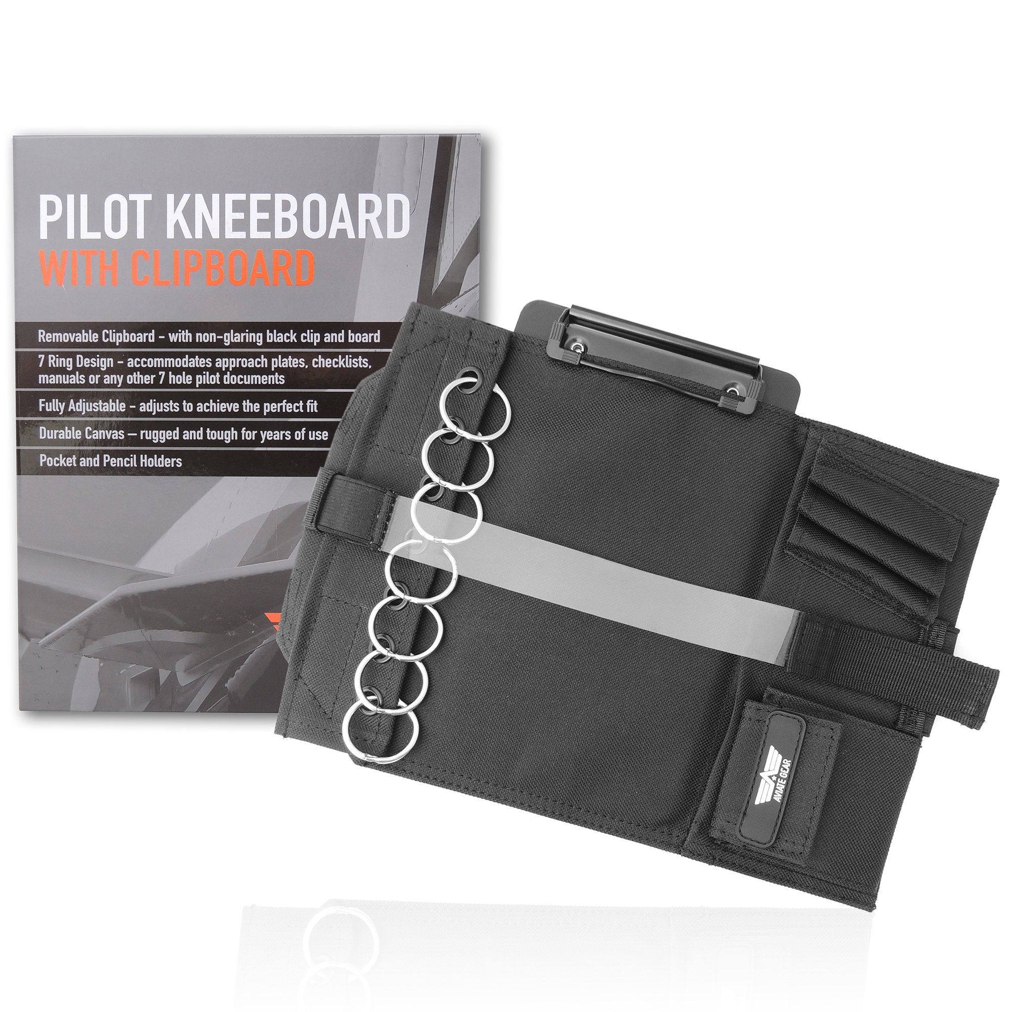 Kneeboard Clipboard Attaching Approach Checklists